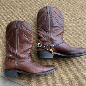 [Larendo] men's leather cowboy boots